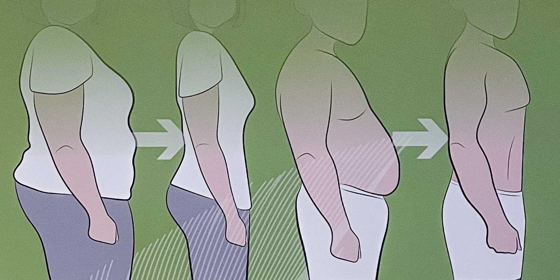 Prozess des Abnehmens mit einer Stoffwechselkur