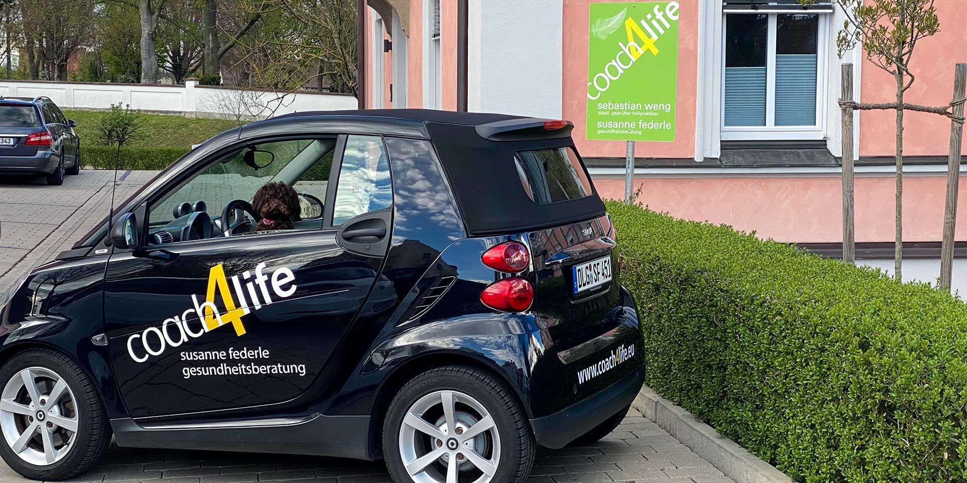 Außenaufnahme Praxis coach4life in Burgau, Landkreis Günzburg